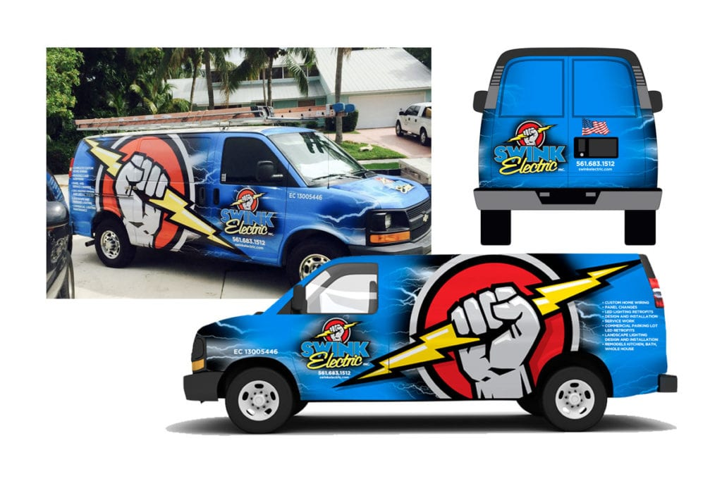 Swink Electric Logo and Vehicle Wrap